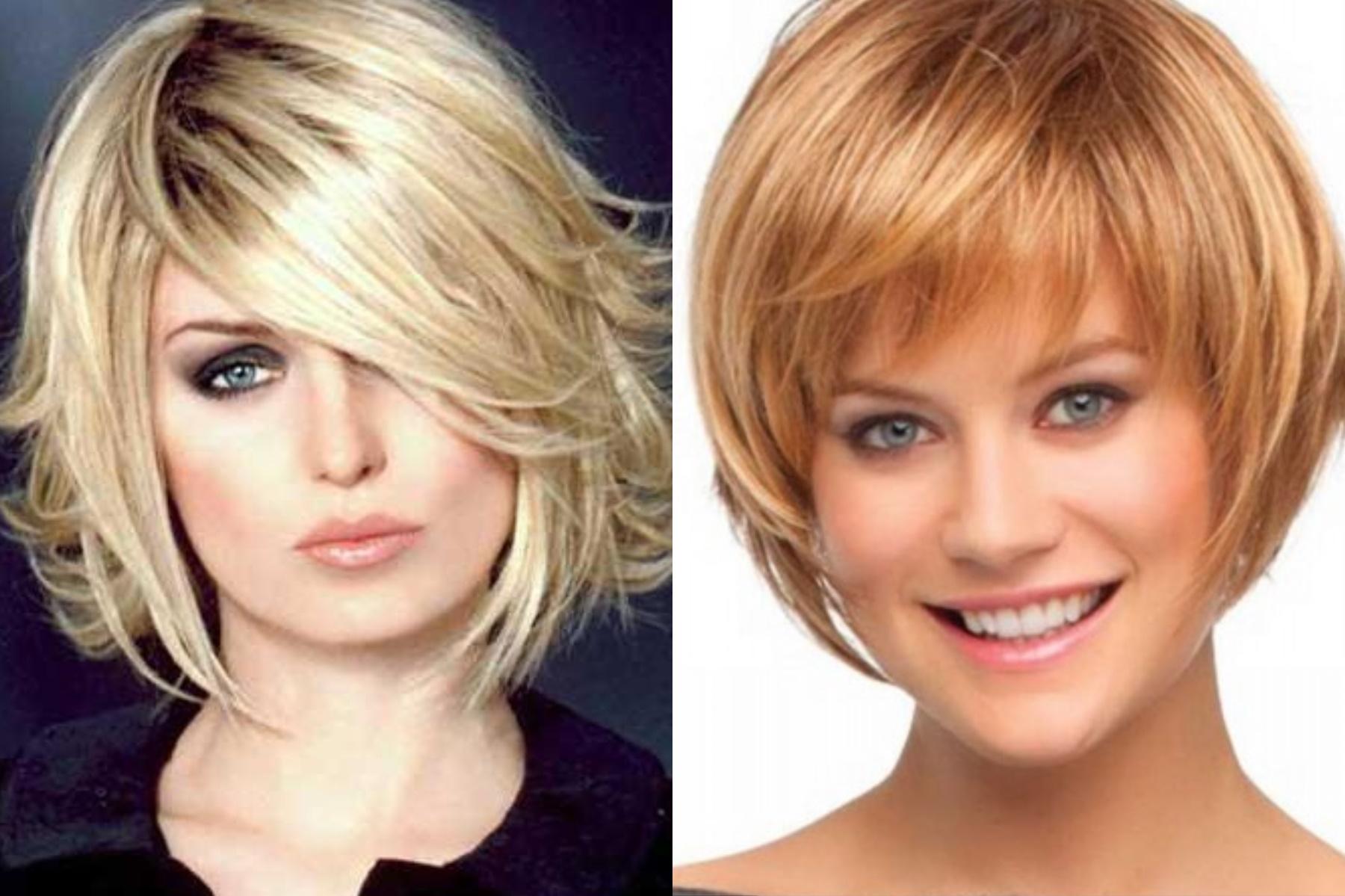 Прически для коротких волос для девушек с челкой